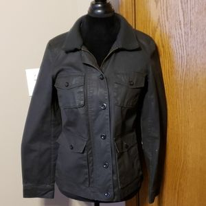 J crew washed and aged waxed cotton utility jacket